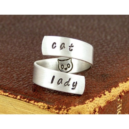 "Anello regolabile ""Cat Lady"""