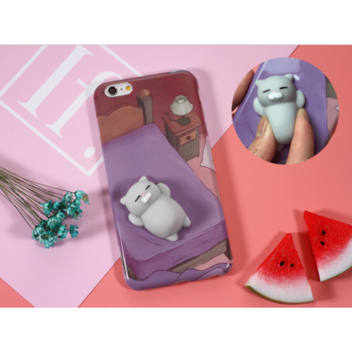 Cover per iphone con gattino grigio morbidoso