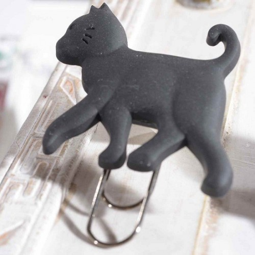 Set 4 graffette gatto nero