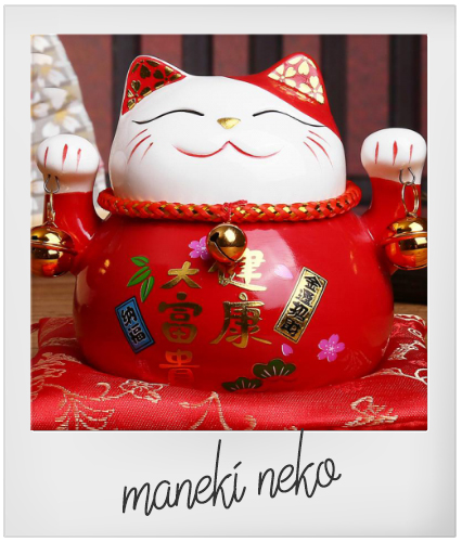 Porta fortuna Maneki Neko G come Gatto