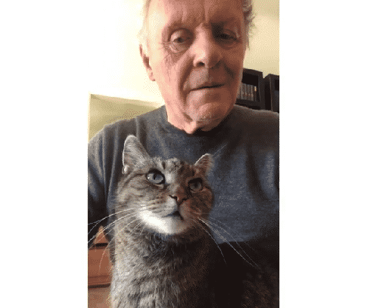 Anthony Hopkins e il suo gatto